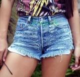 Pastel goth Soft Grunge Hipster Levis High waisted denim shorts