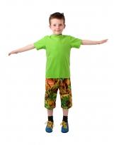 Unisex Dinosaur Sunrise Pocket Bermuda Trousers