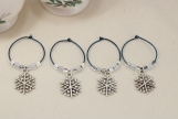 Snowflake Wine Charms
