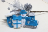Turquoise Blue Christmas Tree Ornaments