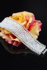 "Bracelet ""Crystal"" full of Swarovski crystals"