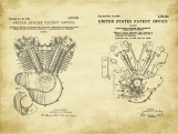 Harley Vintage Engine Patent Art Duo-U.S. Shipping Included