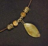 Jasper Pendant Buddha Necklace (143A)