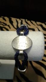 Men's Black & Silver Bracelet