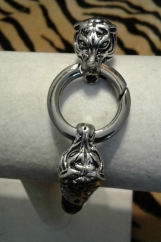 Men's Black Tiger Head Bracelet