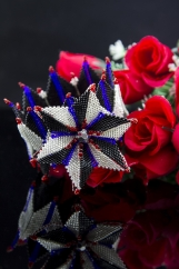 """Mountain Lily Cuff""-handmade beaded jewelry"