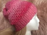 Multicolour Crochet Hat (Pink)
