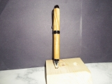 Olive Wood Cigar Pen - Chrome