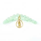 Sevasoul Sai Baba Pendant Bracelet - Green Aventurine Beads