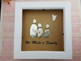 We Made A Family Personalised Pebble Art Frame – Add Your Family