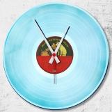Blue Loop-store handmade vintage vinyl clock