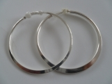 Semi Flat Round Hoop Clip On Earrings