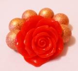 Toddler's  Red Flower Chunky Bracelet