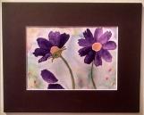 Watercolor Painting - Purple Flowers
