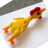 PATTERN - Rubber Chicken amigurumi