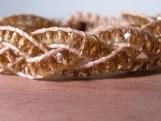 White Sand Braided Bracelet, Glass Beaded Bracelet, Beaded Cuff, Neutral, Nature Inspired, Vegan, Stacking Bracelet, Birthday Gift, Handmade