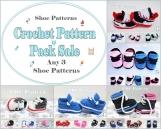 Pattern Pack Sale Crochet Bootie Patterns - Any 3 Shoe Patterns PDF Files