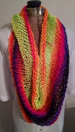 scarf, infinity scarf, bright, gift idea, bathing suit topper