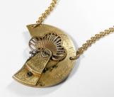 Steampunk Antique Pocket Watch Parts Pendant Necklace