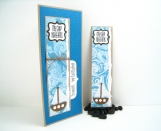 Masculine Birthday Card with Removable Bookmark - Ship