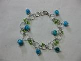 Blue Green Charm Bracelet