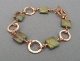 Red Creek Jasper and Copper Bracelet - Stone & Copper Bracelet
