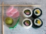 Felted Wool Sushi Set