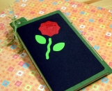 MiniJournal - Rose on Green