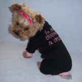 Sugar & Spice Dog Pet Pajamas Rompers Embroidered  Size Tiny - Small