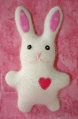 Easter heart bunny