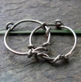 sensitive vine-- niobium hoop earrings-- primitive series