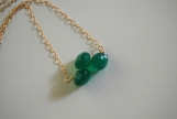 Emerald green quartz onion briolette necklace