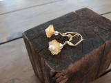 ON SALE!! Little Orange and yellow Flowers with Pearls Earrings