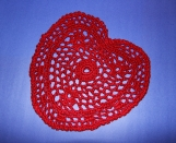 Red Heart, Crochet Small Table Cover