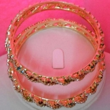 Simulated Red& mix CZ stones Colors Bangles Piars Beautiful