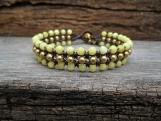3 Low Jade Brass Bracelet