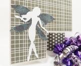 Fairy Birthday Card in Grey - Tri-Shutter Card