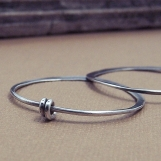 Hoops With A Twist - Sterling Silver Earrings