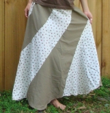 Lovely LadyBugs Bees and Daisies in a Free Waisted Swirly Skirt Creation