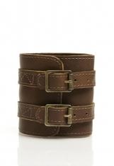 Genuine leather wristband