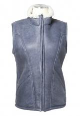 Lambskin leather vest.
