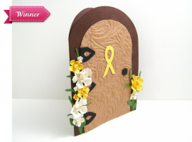 Daffodil Garden Door card by Fairy Cardmaker for Daffodil Blooms contest