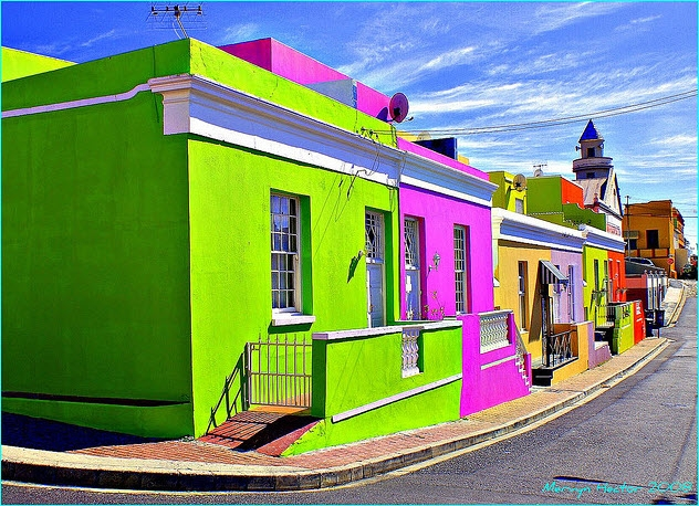 Bo-Kaap's colorful couses, Cape Town.