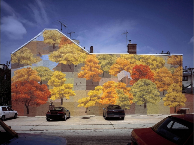 Art on a massive scale blog for 4 seasons mural