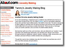About.com - Tammy's Jewelry Making Blog: Another On-Line Jewelry Selling Outlet.